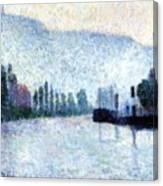 Rouen La Seine Et Les Collines Canteleu 1887 Canvas Print