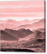 Rouge Hills Of The Tonto Canvas Print