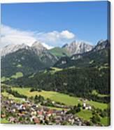 Rougemont Village In Switzerland Canvas Print
