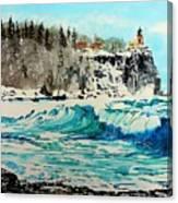 Rough Water At Split Rock Canvas Print