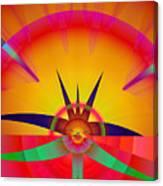 Round Burst Canvas Print