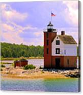 Round Island Lighthouse Canvas Print