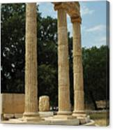 Round Temple At Olympia Canvas Print