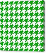 Rounded Houndstooth White Background 09-p0123 Canvas Print