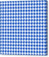 Rounded Houndstooth White Background 18-p0123 Canvas Print