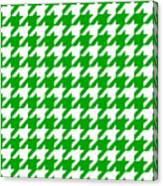 Rounded Houndstooth White Pattern 09-p0123 Canvas Print