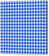 Rounded Houndstooth White Pattern 18-p0123 Canvas Print