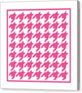 Rounded Houndstooth With Border In French Pink Canvas Print