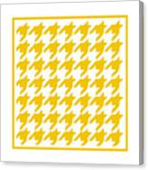 Rounded Houndstooth With Border In Mustard Canvas Print