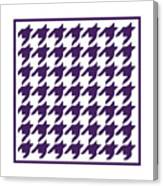 Rounded Houndstooth With Border In Purple Canvas Print