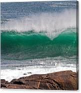Roundstone Turquoise Wave Ireland Canvas Print