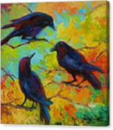 Roundtable Discussion - Crows Canvas Print