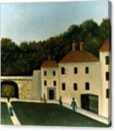 Rousseau:promenaders,c1907 Canvas Print