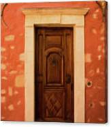 Roussillon Red And Door Canvas Print