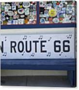 Route 66 Bench Canvas Print