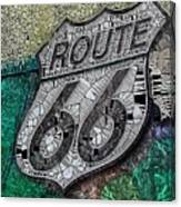 Route 66 Digital Stained Glass Canvas Print