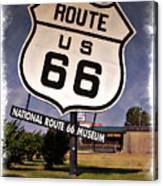 Route 66 Museum - Impressions Canvas Print