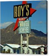 Route 66 - Roy's Of Amboy California 2 Canvas Print