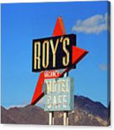 Route 66 - Roy's Of Amboy California Canvas Print