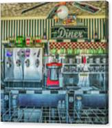Route 66 Valentine Diner Canvas Print