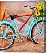 Route 66 Vintage Bicycle Canvas Print