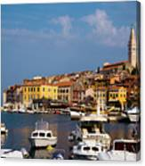 Rovinj Harbour Canvas Print