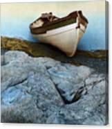 Row Boat On Shore Canvas Print