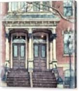 Row House Providence Rhode Island Canvas Print
