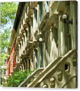 Row Houses In White Canvas Print