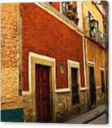 Row Of Casas Guanajuato Canvas Print