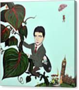 Rowan Atkinson Mr Beanstalk Canvas Print