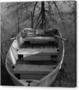 Rowboat And Tree Canvas Print