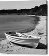 Rowboat On The Beach Canvas Print