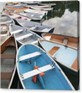 Rowboats In Quissett Harbor Canvas Print