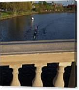 Rowinfg Towards The Weeks Bridge Charles River Harvard Square Cambridge Ma Canvas Print