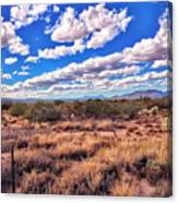 Rows Of Clouds Over Sonoran Desert Canvas Print
