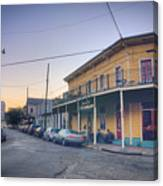 Royal And Touro Streets Sunset In The Marigny Canvas Print