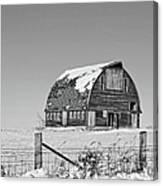 Royal Barn Winter Bnw Canvas Print