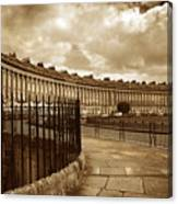 Royal Crescent Bath Somerset England Uk Canvas Print