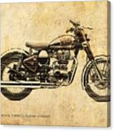 Royal Enfield Classic Chrome 2016, Poster For Men Cave Canvas Print