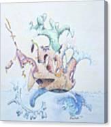 Royal Fireworks Barge Canvas Print