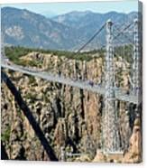 Royal Gorge Bridge In Summer Canvas Print