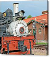 Royal Gorge Train And Depot Canvas Print