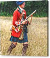 Royal Highlanders 77th Regiment Of Foot  Canvas Print
