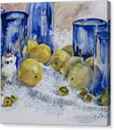 Royal Lemons Canvas Print