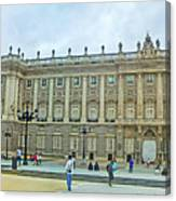 Royal Palace In Madrid In A Beautiful Summer Day, Spain Canvas Print