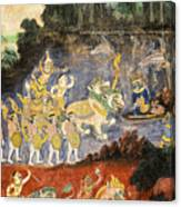 Royal Palace Ramayana 08 Canvas Print