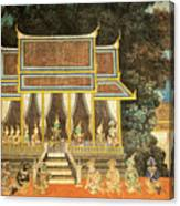 Royal Palace Ramayana 18 Canvas Print
