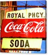 Royal Phcy Coke Sign Canvas Print