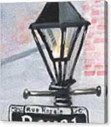 Royal Street Lampost Canvas Print